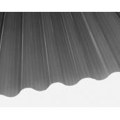 Шифер ПВХ Salux WHR 76/18 волна дымчатая 1,8х0,9 м