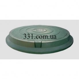 Люк легкий канализационный полимерпесчаный 2 т с замком зеленый (14.22.2) (IMPA524)