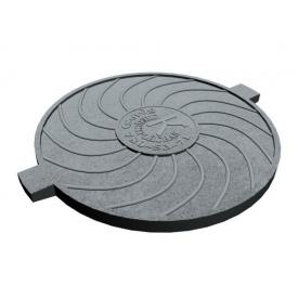 Чавунна кришка люка ПЛ 600 мм (к102) (IMPA550)