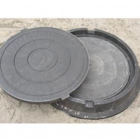 Крышка люка для телефонной канализации полимерпесчанная В 630х105 мм