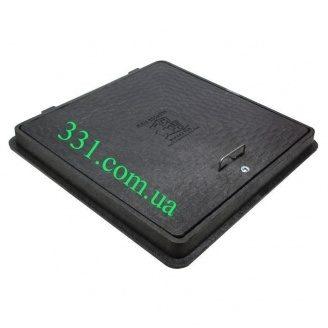 Люк пластмассовый квадратный 650х650  мм с замком (02658) (IMPA523)