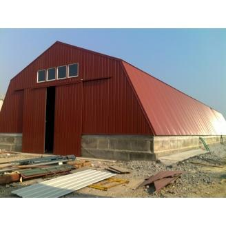 Будівництво ангару під ключ за ЛСТК технології