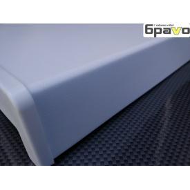 Подоконник пластиковый Opentech матовый 400 мм белый