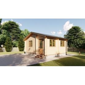 Будівництво будинку дерев'яного дачного з профільованого бруса 6х5 м