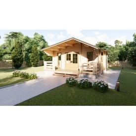 Строительство дома деревянного из профилированного бруса 6х6 м
