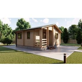 Строительство дома садового из профилированного бруса 6х6 м