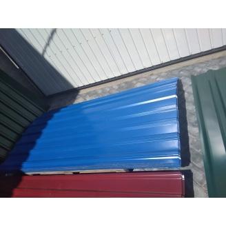 Профнастил некондиция Krovlya100 ПК-20 1150/1110 мм 0,35 мм 2 м PE глянец синий