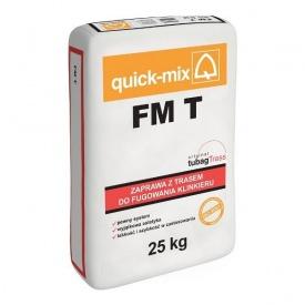 Смесь для расшивки швов клинкерной плитки Quick-Mix FM T белая 25 кг