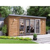 Садовий будиночок з профільованого бруса 5.5х3.5 м