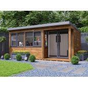 Садовий будиночок з профільованого бруса 5.5х2.5 м