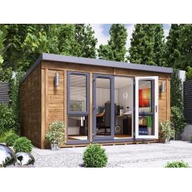 Домик садовый из профилированного бруса 4.5х3.5 м