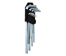 Набір Г-образних шестигранних ключів довгі 1,5-10 мм хром