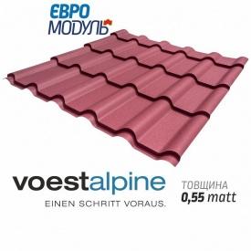 Металлочерепица Евромодуль Веста-20 matt Voestalpine Австрия 0,55 мм