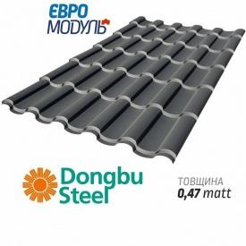 Металлочерепица Евромодуль Олимп matt Dongbu Steel Корея 0,47 мм