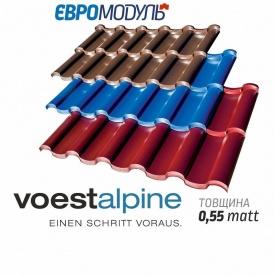 Металлочерепица Евромодуль Олимп модульная matt Voestalpine Австрия 0,55 мм