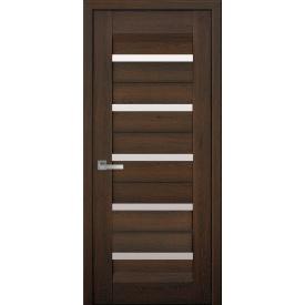 Дверне полотно Ліра дуб шоколадний зі склом сатин