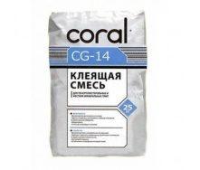 Клей для мин. ваты и пенополистирольных плит Coral CG 14 25 кг