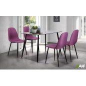Обідній комплект меблів АМФ стіл Умберто + стільці Лучія Фіолетовий - набір 5 одиниць