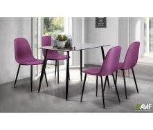 Обеденный комплект мебели АМФ стол Умберто + стулья Лучия Фиолетовый - набор 5 едениц