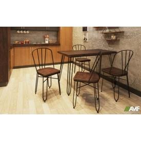 Комплект садових меблів АМФ стіл Smith 80+стільці Clapton чорний, набір 5 шт