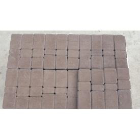 Тротуарная плитка Старый город 4 см коричневая
