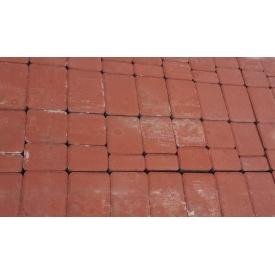 Тротуарная плитка Старый город 4 см красная