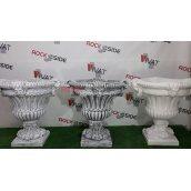 Бетонна ваза Rock Side Візантія 60х60х65 см під старовину світла