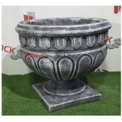 Бетонна ваза Rock Side Афіна 50х50х45 см під старовину світла