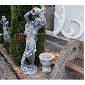 Скульптура Rock Side Дівчина з глечиком 50х50х130 см під старовину світла