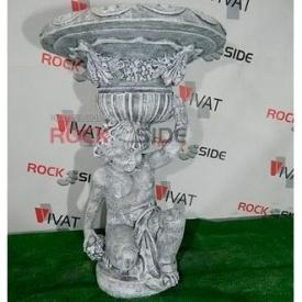 Скульптура Rock Side Хлопчик з вазою 60х60х90 см під старовину світла