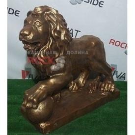 Скульптура Rock Side Лев №3 83х26х72 см під золото