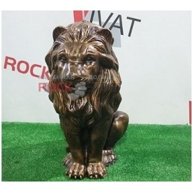 Скульптура Rock Side Лев малюк 24х24х40 см під золото