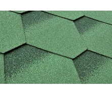 Бітумна черепиця Matizol Hexagon SBS 3D зелена