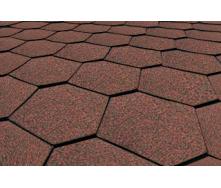 Бітумна черепиця Matizol Hexagon SBS коричнева