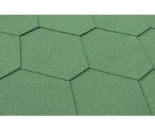 Бітумна черепиця Matizol Hexagon SBS зелена