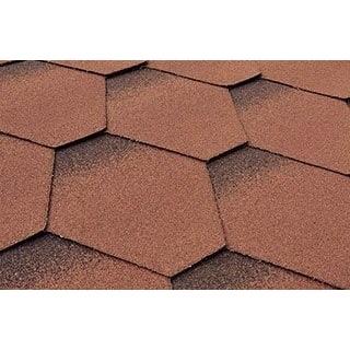 Бітумна черепиця Matizol Hexagon SBS 3D коричнева