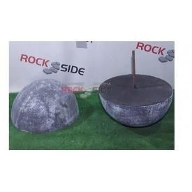 Полусфера дорожная Rock Side 380х380х190 мм серая