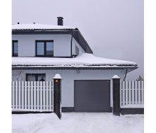 Секционные гаражные ворота ALUTECH PRESTIGE микроволна 2500х2500 мм ADS 703 антрацит