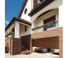 Секционные гаражные ворота ALUTECH PRESTIGE S-гофр 5000х2125 мм RAL 8017 шоколадный