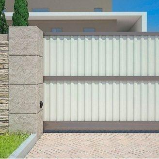 Распашные ворота Alutech Elegant профиль роликовой прокатки стандартный цвет