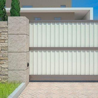 Откатные ворота Alutech Elegant профиль роликовой прокатки