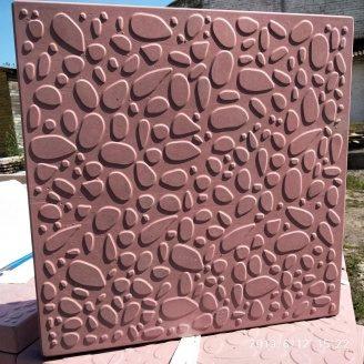 Тротуарна плитка Морська галька 400х400х35 мм червона