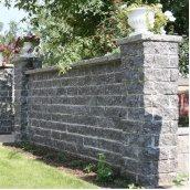 Камень для столбиков Золотой Мандарин трехсторонний скол 300х100х150 мм серый