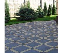 Тротуарна плитка Золотий Мандарин Плита 400х400х60 мм на сірому цементі чорний