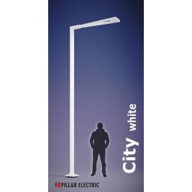 Металевий вуличний ліхтар опора Pillar Electric Сіті 100 Вт