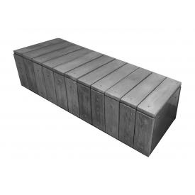 Скамейка ЗОЛОТОЙ МАНДАРИН Форест 410х600х1730 мм серый