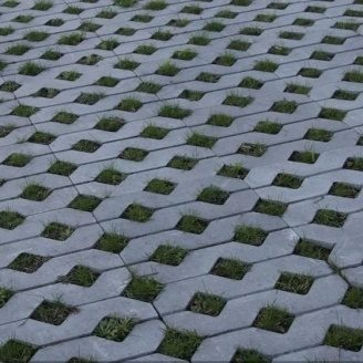 Тротуарна плитка Золотий Мандарин Парковочная решітка 500х500х80 мм сірий