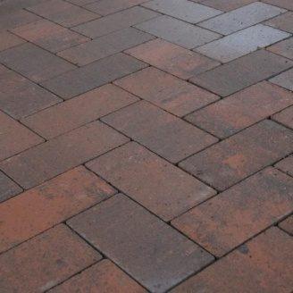 Тротуарная плитка Золотой Мандарин Кирпич без фаски 200х100х60 мм сиена