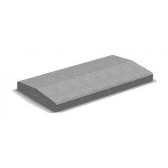 Крышка для парапета Золотой Мандарин 500х260х60 мм серый