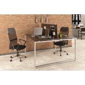 Двойной офисный стол Q-140 Loft-design 1350х750х1400 мм дсп венге-корсика